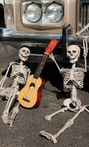 halloween street background free images spooky celebration musician death gothic bone