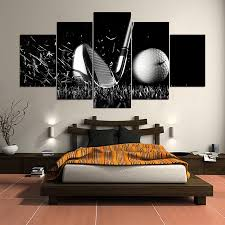 compare prices on landscape golf online shopping buy low price 5 panel hd printed painting golf canvas home decor wall art picture for living room id