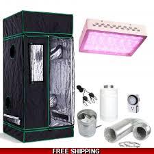 carbon filter fan combo 30 24x24x60 grow tent kit w 300w led light fan carbon filter