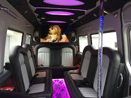 our 14 seater mercedes benz sprinter party bus interior complete