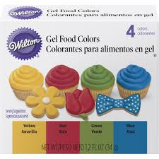 primary gel food colors set wilton