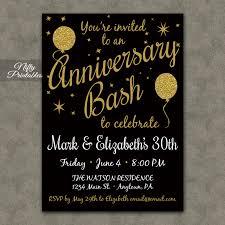 40th anniversary invitations gold glitter balloon anniversary invitations nifty printables