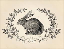 vintage rabbit printable digital graphics vintage bunny hare rabbit clip
