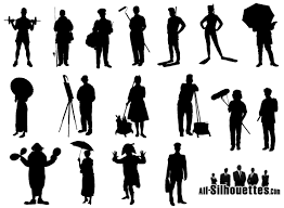 free silhouette images working people silhouette vector free vector files 365psd com