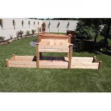 Potting Bench Kits Gronomics Potting Bench W Raised Garden Beds Tfpbrb 24 48 Free
