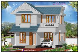 free house design 1491 sqft modern double floor kerala home design