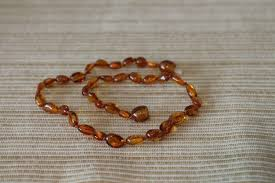 baby bead necklace images Baby baltic amber necklace cognac beans one baby luv jpg