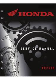 honda xr250r service manual 1996 2004