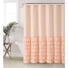 Ruffled Shower Curtain Vcny Melanie Ruffle Shower Curtain Free Shipping On Orders Over