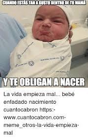 Meme Bebe - cuando estastanagusto dentro detu mama yteobligananacer la vida