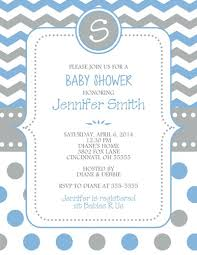 baby shower invitation boy neutral chevron polka dots