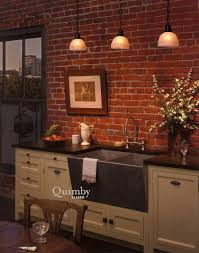 faux brick backsplash in kitchen kitchen exposed brick wall tile that looks like brick painted