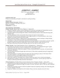 Teachers Resume Example 15 Example First Year Teacher Resume Sample Resumes Art Education