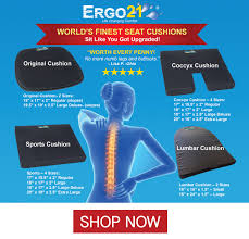 ergo21 seat cushion for relief better than gel or foam