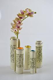 Tin Vases Scroll Bud Vases