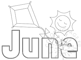 summer month june coloring sheet coloring page