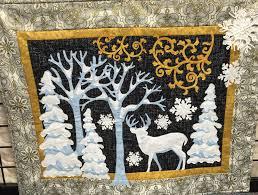 christmas toile deer in the woods