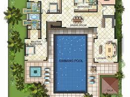 u shaped floor plans with courtyard u shaped house plans with courtyard pool awesome l shaped house