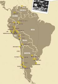 Map A Route by This Map Shows Che Guevara U0027s Route Through South America