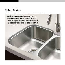 Kitchen Sink Restaurant Stl by Houzer Stl 3600 Eston Series Undermount Single Bowl Kitchen Sink T