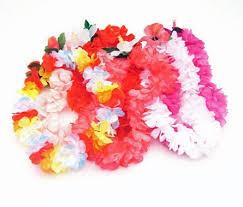 hawaiian leis children s premium hawaiian silk flower leis luau party supplies