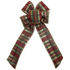 burgundy wired ribbon christmas bows wreath bows wired burgundy plaid bow 6 inch