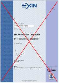 Itil Certified Resume Paper Certificates And Pins