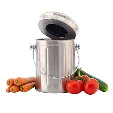 Compost Containers For Kitchen by Amazon Com Chef U0027s Star Stainless Steel Compost Bin 1 Gallon