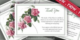thank you for sympathy card sle funeral thank you note bereavement sympathy card principal