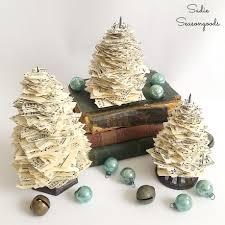 antique receipt holder u0026 vintage sheet music christmas trees