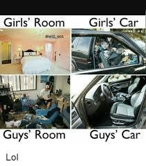 Car Girl Meme - girls room girls car ent guys room guys car lol meme on me me