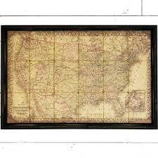 us map framed vintage inspired framed u s map antique farmhouse