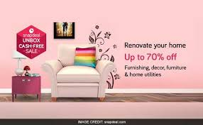 Snapdeal Home Decor Snapdeals Unbox Cash Free Sale Ends Today Offers Up To 70