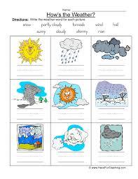 weather names worksheet
