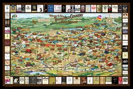 Country Maps Texas Wineries Map Unique Texas Gifts Texas Wine Maps