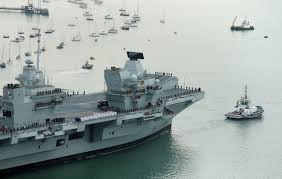 where is hms queen elizabeth and where was it built metro news