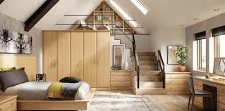 Bespoke Bedroom Furniture Alto English Oak Contemporary Fitted Bedroom By Strachan