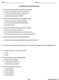 capitalization and punctuation worksheet pdfcapitalization and