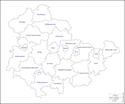Erfurt Germany Map by Thuringia Free Map Free Blank Map Free Outline Map Free Base