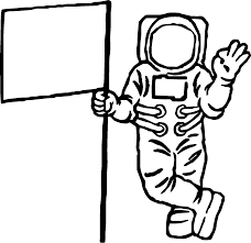 astronaut and flag coloring page wecoloringpage