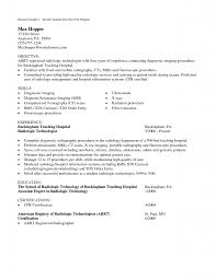 Radiologic Technologist Resume Sample by Medical Technologist Resume Template Examples