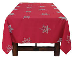 christmas tablecloth the aisle snowy noel embroidered snowflake christmas