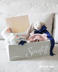 welcome baby gift box baby box bunny and box