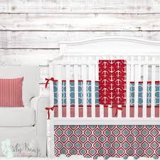 Baby Boy Blue Crib Bedding by Red Light Blue Baby Boy Crib Bedding Nautical Anchors