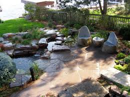 Patio Layout Design Landscaping Patio With Pond Search Landscaping Ideas