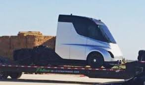 truck tesla tesla u0027s semi truck has been spied ahead of official unveiling event