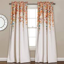 Top And Bottom Rod Curtains Latitude Run Cumberland Nature Floral Room Darkening Thermal Rod