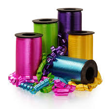 plastic ribbon wide crimped curling ribbons