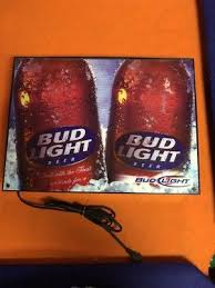 bud light light up sign budweiser signs tins breweriana beer collectibles page 33