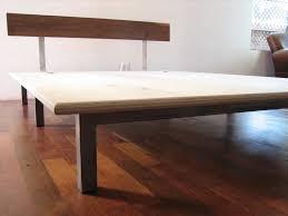 Diy Beam Platform Bed Basic Platform Bed Gallery Also Sage Wood In Natural Picture Full